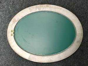 Montáž zrkadla krok 1. ilustrácia.